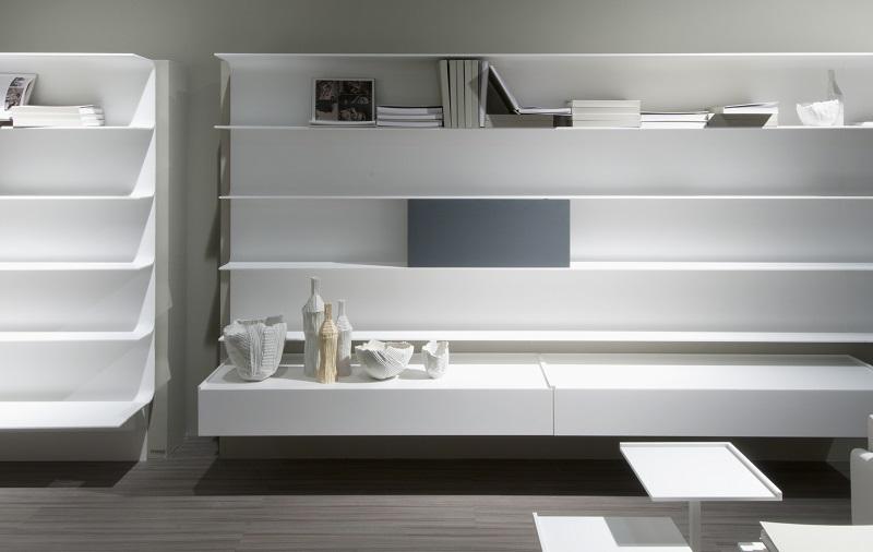 HI-MACS® Minimalist Bookshelf