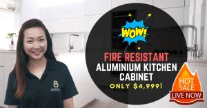 aluminium cabinet quartz countertop promotion
