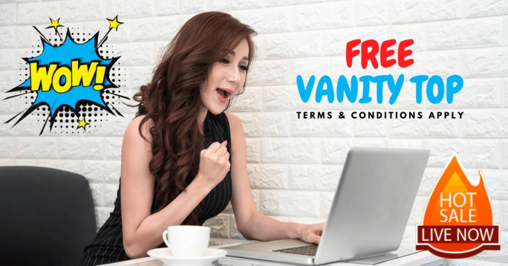 free vanity countertop promotion