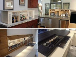 hidden countertop compartments